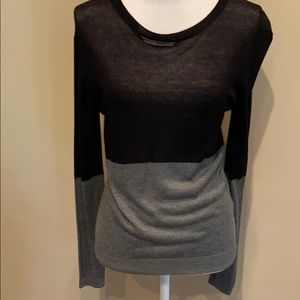 One Grey Day Colorblock Sweater Lightweight Knit